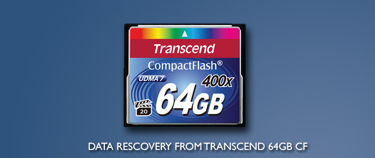 Recovery from 64GB Transcend Compact Flash - Forensic Data